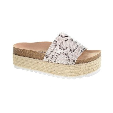 Dirty Laundry Women's Pippa Snake Band Footbed Flatform Sandal