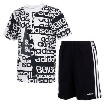 Adidas Little Boys' Core Origami Tee & Shorts Set