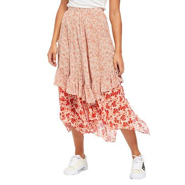 Free People Women's Zuma Drippy Ruffle Skirt