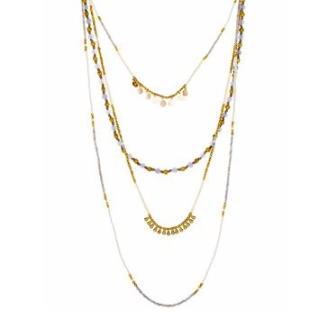 Panacea Gold Drops Layered Necklace