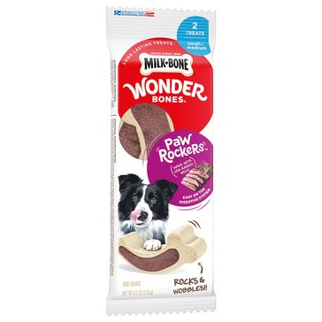 MilkBone Wonderbones Paw Rocker 6.2 oz. Beef S/M Adult Dog Treats