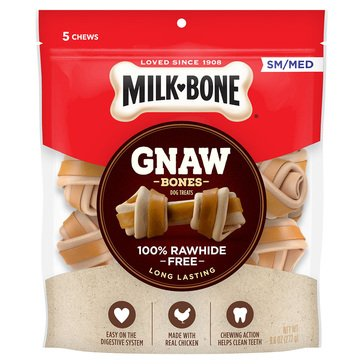 MilkBone Gnawbones 9.6 oz Alternative Chicken S/M Adult Dog Rawhide