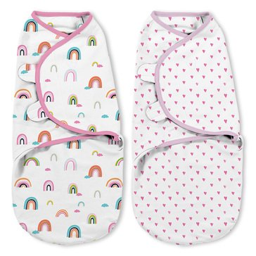 SwaddleMe Original Swaddle 2-Pack - Chasing Rainbows
