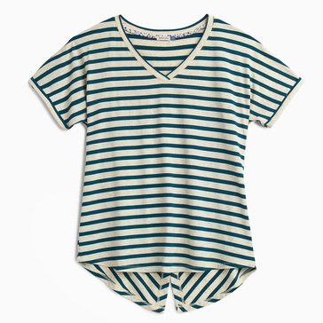 Yarn & Sea Women's Yarn Dyed Striped Back Detail Top