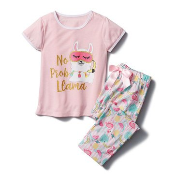 Liberty & Valor Little Girls' 2-Piece PJs