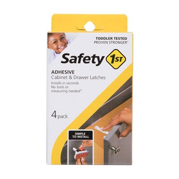 Safety 1st Adhesive Cabinet Latch, 4pk
