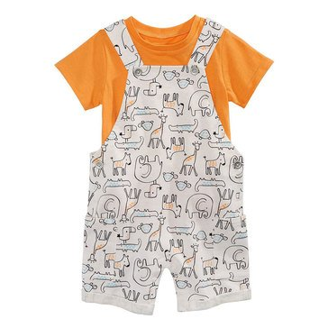 First Impressions Baby Boys' All Over Print Animals Shortall