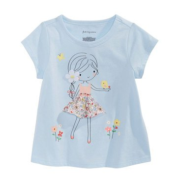 First Impressions Baby Girls' Flower Tee