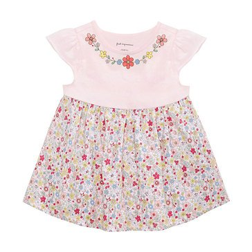 First Impressions Baby Girls' Floral Neck Tunic