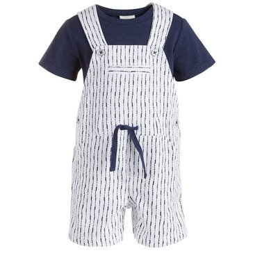 First Impressions Baby Boys' Shibori Stripe Shortall
