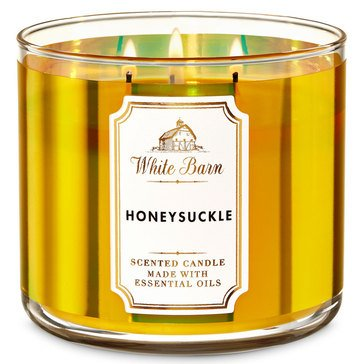 White Barn Honeysuckle 3-Wick Candle