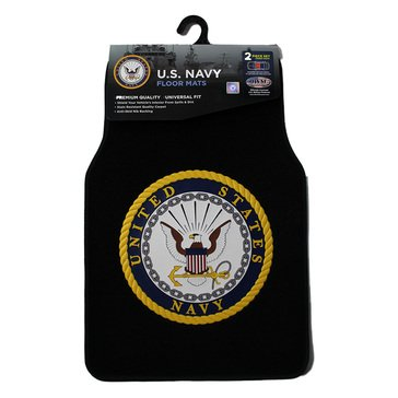JWM Navy Auto 2 Piece Car Mats