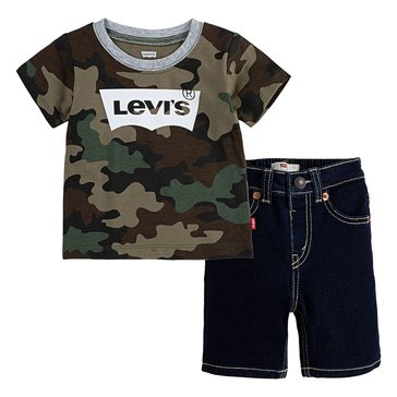 Levi's Toddler Boys' Stretch Denim Shorts Set