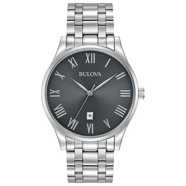 Bulova Men's Classic Roman Number Bracelet Watch