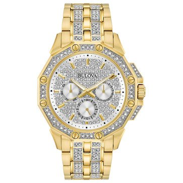 Bulova Men's Swarovski Crylstal Accent Bracelet Watch