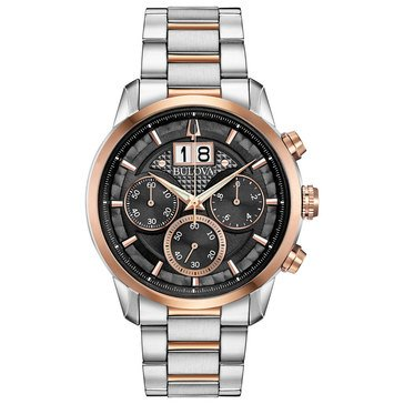 Bulova Men's Two Tone Chronograph Bracelet Watch