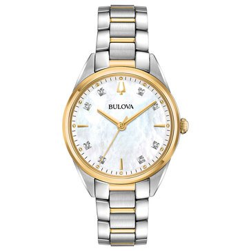 Bulova Women's Sutton Two Tone Bracelet Watch