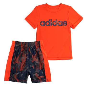 Adidas Toddler Boys' Core Camo Tee & Shorts Set