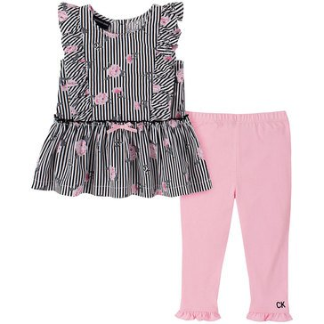 Calvin Klein Baby Girls' Floral Print Tunic & Leggings Set