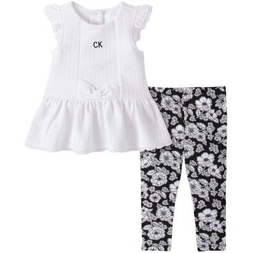 Calvin Klein Baby Girls' Tunic & Floral Print Leggings Set