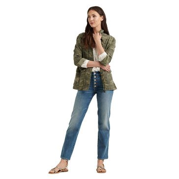 Lucky Brand Women's Camo Printed Utility Jacket