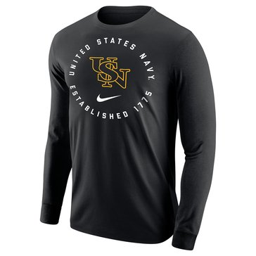 Nike Men's USN Interlock Core Cotton Long Sleeve Tee