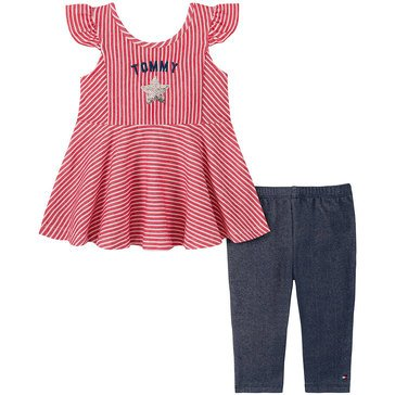 Tommy Hilfiger Baby Girls' Sleeveless Knit Tunic & Leggings Set