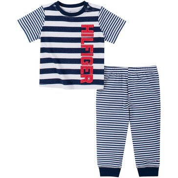 Tommy Hilfiger Baby Boys' Striped Pant Set