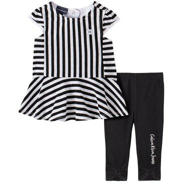 Calvin Klein Baby Girls' Print Tunic & Leggings Set