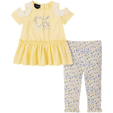 Calvin Klein Baby Girls' Tunic & Print Leggings Set