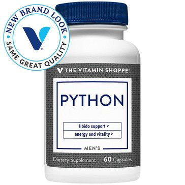 The Vitamin Shoppe Python for Men Libido, Energy and Vitality Support 60 Capsules