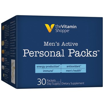 The Vitamin Shoppe Men's Active Multivitamin Personal Packs 30 Single Serving Packets