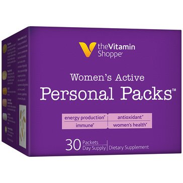The Vitamin Shoppe Women's Active Multivitamin Personal Packs 30 Single Serving Packets