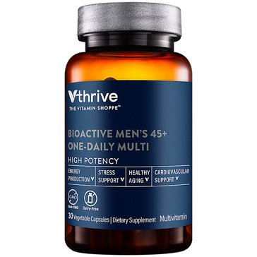 Vthrive Bioactive Multivitamin for Men 45+ Once Daily 30 Vegetarian Capsules