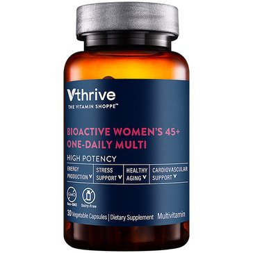 Vthrive Bioactive Multivitamin for Women 45+ Once Daily 30 Vegetarian Capsules