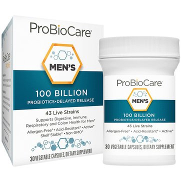 ProBioCare Probiotic for Men 100 Billion CFUs 30 Vegetable Capsules