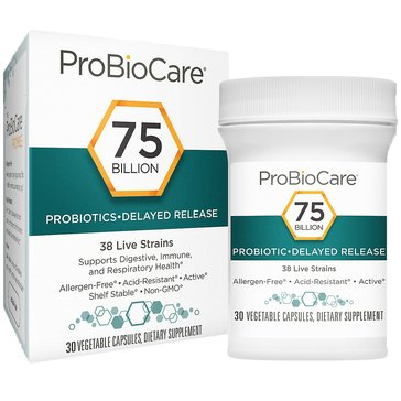 ProBioCare Probiotic 75 Billion CFUs 30 Vegetable Capsules