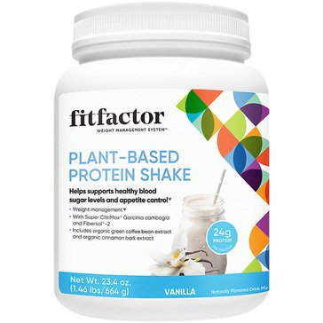 Fitfactor Plant-Based Protein Shake - Vanilla 1.46lbs 16 Servings