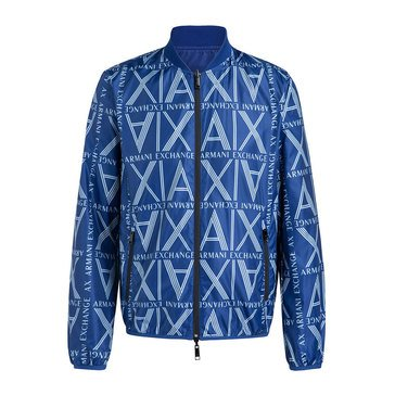 AX Reversable Square Logo Zip Up Bomber Jacket