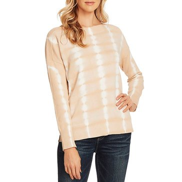 Vince Camuto Women's Boatneck Tie Dye Pullover