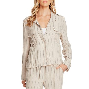 V. Camuto Feb Stripe Linen Jacket
