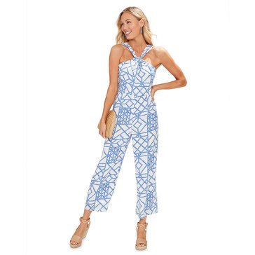 Vineyard Vines Bamboo Lattice Halter Jumpsuit