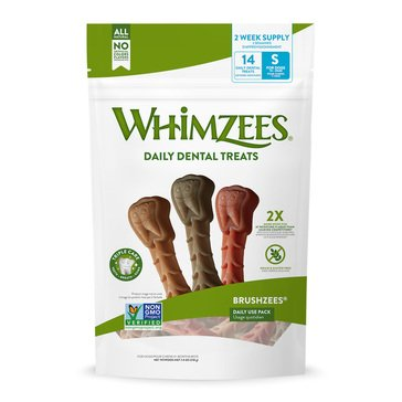 Whimzees Brushzees Daily Use 14-Count Dental Chews
