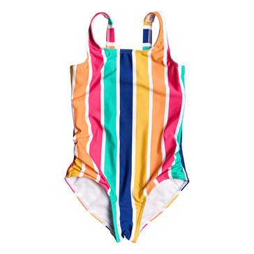 Roxy Little Girls' 1 Piece Maui Shade Striped One Piece Swimsuit
