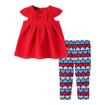 Tommy Hilfiger Baby Girls' Heart Tunic & Leggings Set