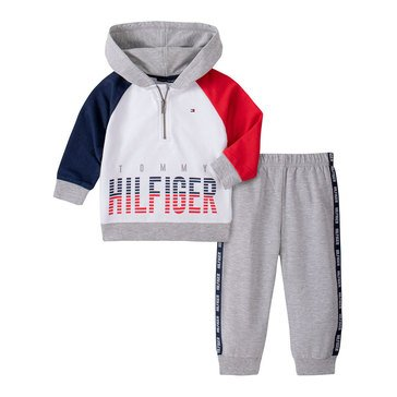 Tommy Hilfiger Baby Boys' Hooded French Terry Jogger Set