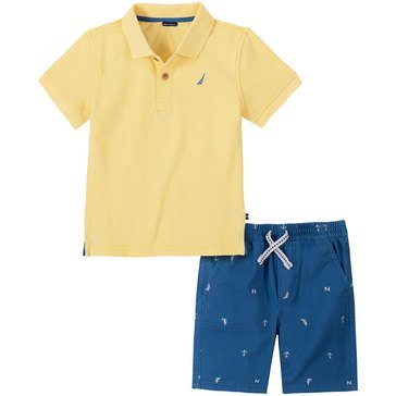 Nautica Baby Boys' Polo & Print Shorts Set