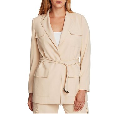 V. Camuto Womens Belted Jacket