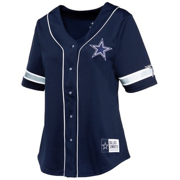 Dallas Cowboys NFL Women's Lorde Short Sleeve Baseball Jersey