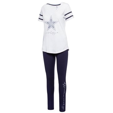 Dallas Cowboys NFL Women's Parsi Two Piece Tee and Legging Combo